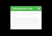 Notifikationsbar til nyt i webshoppens top