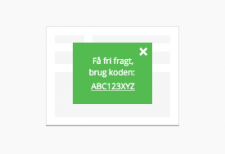 Notifikations-popup til webshoppen