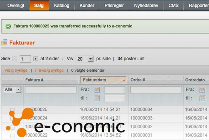 e-conomic modul fra TRIC SOlutions til integration med Magento webshop
